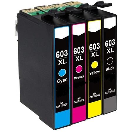 603-Cartouche D'encre équivalent EPSON 603 XL Compatible «série étoile De Mer» PACK 4 COULEURS