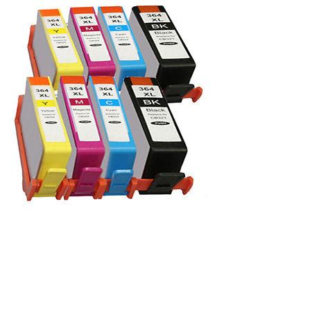 364 – 8 Cartouches D'encre Compatibles HP 364X L- HP364 – Pack 8 XL