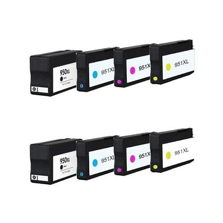 950 – 951 – Cartouches D'encre Compatibles HP950 HP951 Pack 8 Cartouche XL – 4 Couleurs