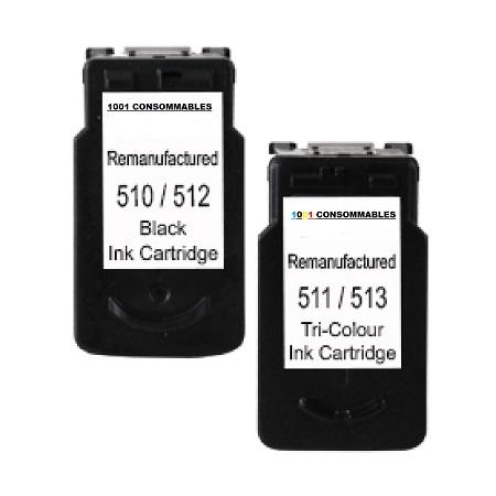 Cartouche Compatible Canon PG 512 – CL 513 – Noir Et Tricolor