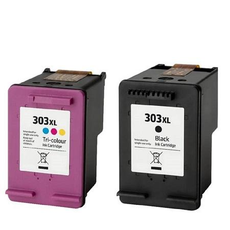 Cartouche D'encre Compatible HP 303 XL – HP303 – Tricolor Et Noir