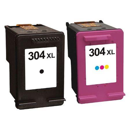 304 – Cartouche D'encre Compatible HP 304XL – N9K08AE – N9K07AE – HP304 – Noir Et Tricolor XL