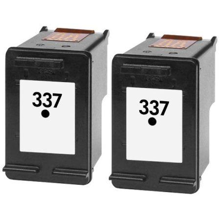 2 Cartouches D'encre Compatibles HP 337 – C9364EE X – HP337 – Noir