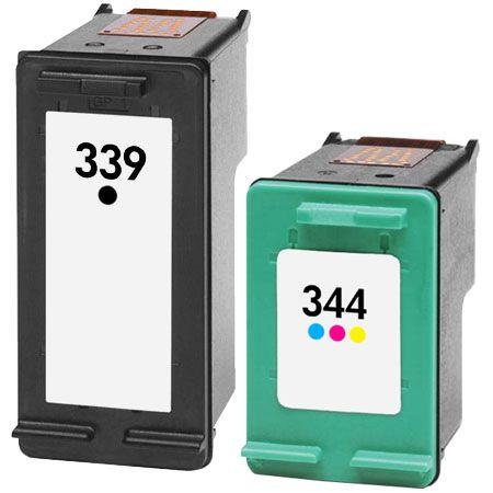 Cartouche D'encre Compatible HP 339 – HP 344 – Noir Et Tricolor