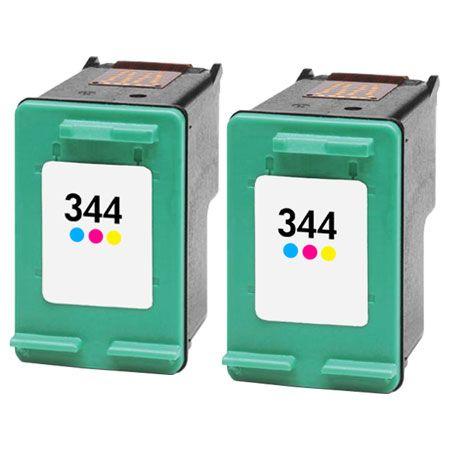 344 – 2 Cartouches D'encre Compatibles HP 344 – C9363EE – HP344 – Tricolor