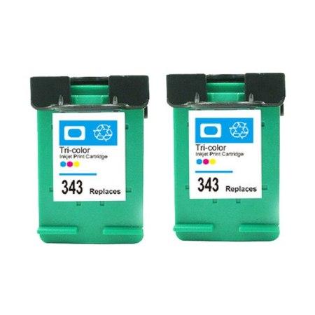 343 – 2 Cartouches D'encre Compatibles HP 343 – C8766EE – HP343 – Tricolor