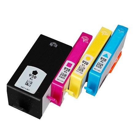 Cartouche D'encre Compatible HP 920 XL – C2N92AE – HP920 – Noir Et Tricolor