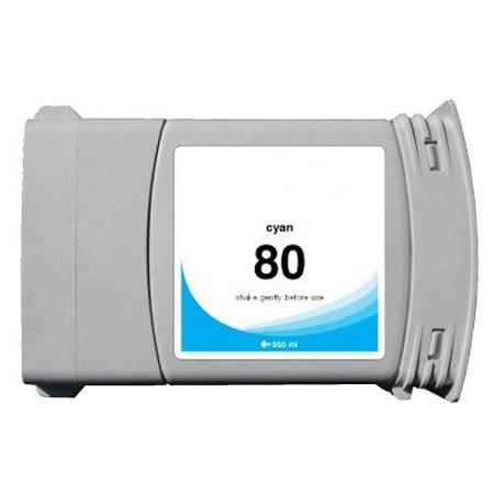 Cartouche Compatible HP 80 – 350 Ml – C4846A  – HP80 – Cyan