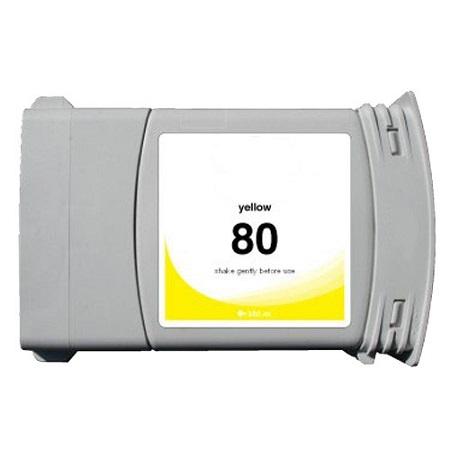 Cartouche Compatible HP 80 – 350 Ml – C4848A – HP80 – Jaune